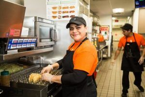 inside the Jack in the Box kitchen